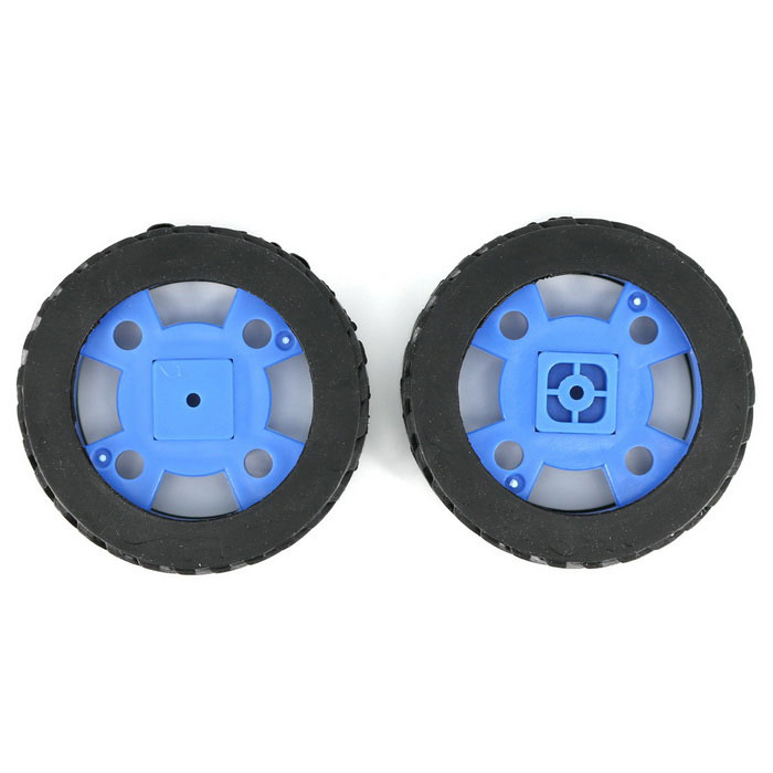 Roda de borracha do modelo de carro inteligente para 130-tipo de motor (47 * 12mm / 2PCS)