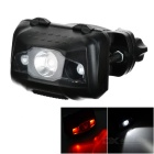 Waterproof High Power 4-Mode 3-LED Bike Taillight / Headlamp White + Red - Black (3 x AAA)
