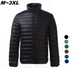 Men's Ultra Light Thin Down Jacket Coats - Black (XXL)