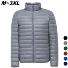 Men's Ultra Light Thin Down Jacket Coats - Grey (XXL)