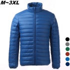 Men's Ultra Light Thin Down Jacket Coats - Sapphire Blue (XXXL)