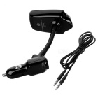 "T10 1.5"" Bluetooth V3.0 Car FM Transmitter MP3 Player Voltmeter -Black"