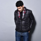 Men's Ultra Light Thin Down Jacket Coats - Black (XL)