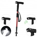 Multifunctional Aluminum Alloy + Plastic Trekking Pole w/ LED Light / Compass / Sound / Radio - Red
