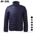Men's Ultra Light Thin Down Jacket Coat - Navy Blue (XXL)