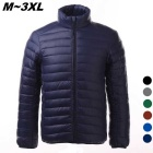 Men's Ultra Light Thin Down Jacket Coat - Navy Blue (L)