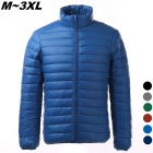 Men's Ultra Light Thin Down Jacket Coat - Sapphire (L)