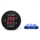 B900R 12/24V LED Red Light Current Voltage Meter Plug for Car - Black