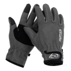 Wind Tour Outdoor Cycling Anti-Slip Warm Wind-proof Touch Screen Full Finger Gloves - Grey (L/ Pair)