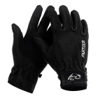 Wind Tour Outdoor Cycling Anti-Slip Warm Wind-proof Touch Screen Full Finger Gloves - Black (L/Pair)