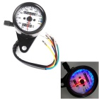 IZTOSS Universal Modified Motorcycle Retro Odometer / Speedometer w/ LED Indicator Light Night Light