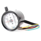 IZTOSS DIY Motorcycle Odometer / Speedometer w/ LED Indicator - Black