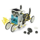 14 In 1 Solar Powered Robot Pattern Building Block Assembling - Black