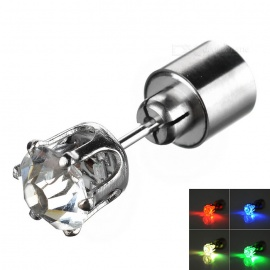 CTSmart Yellow Light LED Luminous Ear Stud for Party / Bar - Silver