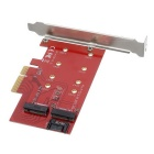 Ordinateur pci-e X4 M NGFF (M.2) + B Carte d'extension NGFF (M.2) - rouge