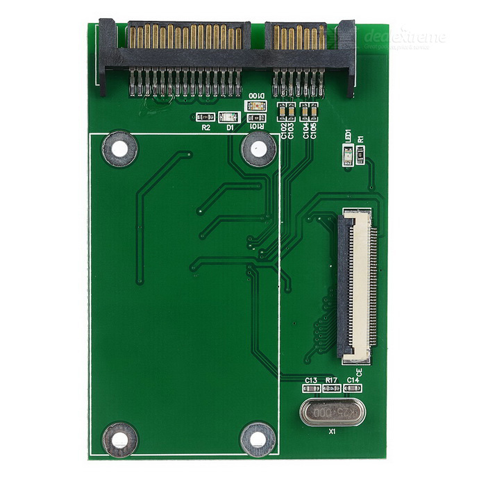 CE/ ZIF to SATA Hard Disk Adapter Card w/ Flat Cable - GreenComputer Cable&amp;Adapter<br>Form  ColorGreenQuantity1 DX.PCM.Model.AttributeModel.UnitShade Of ColorGreenMaterialPrinting circuit boardInterfaceOthersPacking List1 x Adapter card2 x Flat cables<br>