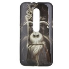Full Cover Gorilla Pattern TPU Back Case for MOTO G3 - Black