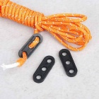Tent Awning Rope Fastener Guy Line Runner Tensioner - Black (10PCS)