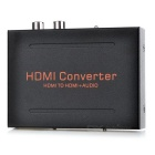 HDMI to HDMI Audio Extractor Converter w/ Optical SPDIF+RCA L/R Audio Splitter Full HD1080p(US Plug)