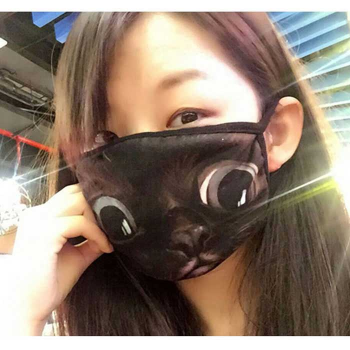 Creative 3D Printing Funny Spoof Warm Windproof Dustproof Mask