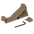 Triangular Angled Fore Grip Handle for Nerf Toy Gun - Sand Color