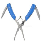 Multifunctional Hook Remover / Line Cutter / Knife / Scaler Fishing Lure Pliers Tool - Blue + Silver