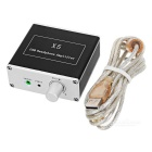 USB Powered Hi-Fi Headphone Amplifier - Black + Silver White