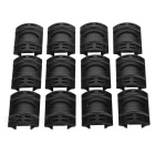 Universal Rubber Rail Covers Protectors Handguards Set for Gun - Black (12PCS)