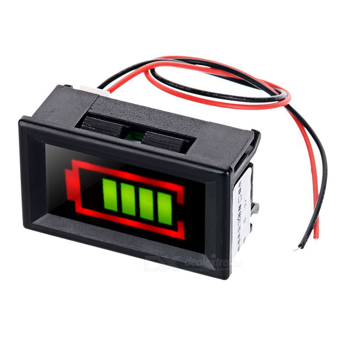 Red + Green Electric Quantity Display w/ Alarm for Lead-Acid Battery