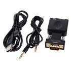 VGA + 3.5mm a HDMI convertitore video w / porta USB - nero