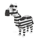 WLTOYS 6612 Zebra Building Blocks Educational Toy for Children / Kids - White + Black