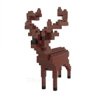 WLTOYS 6610 Deer Building Blocks Educational Toy for Children / Kids - Brown + Black