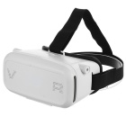 "Virtual Reality 3D Head Mount Glasses for 3.5~6.0"" Smart Phones - White + Black"