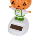 Solar Powered Dancing Pumpkin Man Desk Table Car Decor - Orange