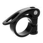 AEST 31.8mm Aluminum Alloy Bike Bicycle Seat Post Clamp - Black