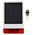 JD-W06 Solar Powered Wireless Sound-light Alarm Speaker - White + Black + Red