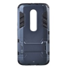 Stylish Protective TPU + PC Back Case w/ Stand for Motorola MOTO X Style - Black