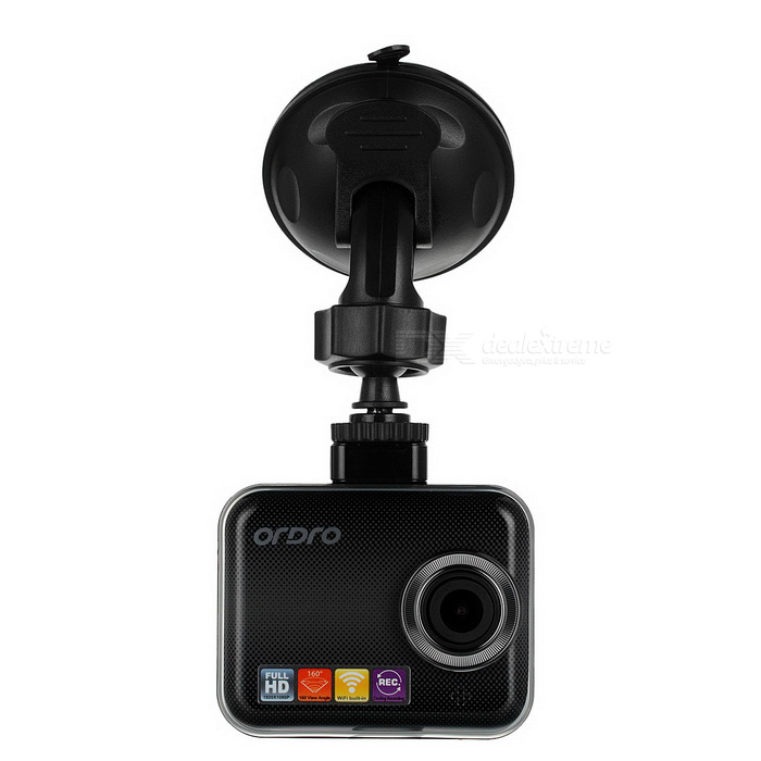 Ordro Q505 160 2.0 CMOS Car DVR IP Camera w/ IR Night Vision - BlackCar DVRs<br>Form  ColorBlackModelQ505Quantity1 DX.PCM.Model.AttributeModel.UnitMaterialPlasticChipsetAmbarellaScreen Size2-2.9Other FeaturesWi-Fi,GPS,Motion Detection,Anti-Shake,IR Night Vision,Microphone,Loop Record,HDMIScreen Resolution:1920 x 1080 DX.PCM.Model.AttributeModel.UnitCamera Pixel3-4.9MP DX.PCM.Model.AttributeModel.UnitWide Angle150°-169° DX.PCM.Model.AttributeModel.UnitCamera Lens1Image SensorCMOSImage Sensor SizeOthers,1/3InchCamera Pixel3.0MPExternal Camera PixelNoWide AngleOthers,160 degreeOptical ZoomNoScreen TypeCapacitive screenScreen Size2.0 inchesISO400Exposure Compensation3;-2.0White Balance ModeAutoVideo FormatMOVDecode FormatH.264Video OutputPAL,HDMIVideo Resolution720P(1280 x 720),1080FHD(1920 x 1080),VGA(640 x 480),QVGA(320 x 240)Video Frame Rate30ImagesJPGStill Image Resolution3M 2048x1536Audio SystemDual ChannelsMicrophoneYesAuto-Power OnYesLED QtyNoneG-sensorYesTime StampYesBuilt-in Memory / RAMNoMax. Capacity32GBStorage ExpansionTFAV InterfaceMini HDMI,Others,N/AData interfaceMicro USBWorking Voltage   5 DX.PCM.Model.AttributeModel.UnitBattery Capacity700 DX.PCM.Model.AttributeModel.UnitWorking Time1 DX.PCM.Model.AttributeModel.UnitMenu LanguageEnglish,French,German,Italian,Spanish,Portuguese,Russian,Japanese,Korean,Chinese Simplified,Chinese TraditionalPacking List1 x DVR1 x USB cable (305cm)1 x Car charger(12~24V)1 x Holder1 x Pack of accessories1 x Chinese / English user manual<br>