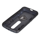 Protective Back Case w/ Stand for Motorola MOTO G3 / G 2015 - Black