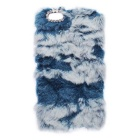 Warm Stylish Plush Fur Style PC Protective Case w/ Rhinestone for IPHONE 6 Plus / 6S Plus - Blue