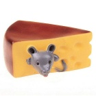 Novelty Squeaky Sound Cheese Style Non-toxic Vinyl Pet Toys Dog Toy - Brown + Yellow