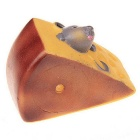 Novelty Squeaky Sound Cheese Style Pet Toys Dog Toy - Brown + Yellow
