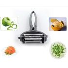 360 Degree Potato Fruit Melon Grater Peeler Vegetable Cutter - Gray