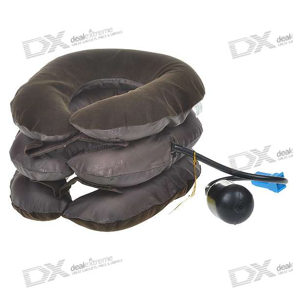 Three-Layer Cervical Vertebra Tractor Neck Massager (Brown)