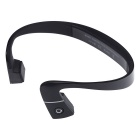 Sports Bone Conduction Bluetooth Headphone w/ NFC / Mic / Adjustable Headband - Black