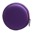 Convenient EVA Storage Case Bag for Headphone / Change / Coins / Keys - Purple