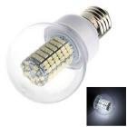 E27 6W 369lm 6500K 138-SMD 3528 LED White Energy Saving Light Bulb - White (AC 220~240V)