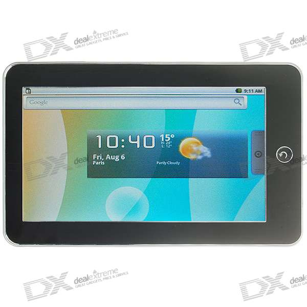 "7"" Touch Screen TFT LCD Google Android 1.6 Tablet PC w/ WiFi (Samsung S3C6410/667MHz)"