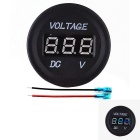Iztoss Blue LED Display Voltmeter for Car, Motorcycle, Boat - Black