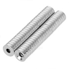 12*3-4mm Round N35 NdFeB Magnets Set - Silver (50PCS)